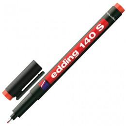 Маркер перманентный для любой гладкой поверхности EDDING 140, КРАСНЫЙ, 0,3 мм, металлический наконечник, E-140/2