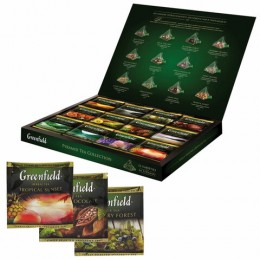 Чай GREENFIELD (Гринфилд), НАБОР 12 видов, 60 пирамидок, 110г, картонная коробка, ш/к 12419, 1241-07-1