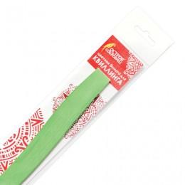 Бумага для квиллинга светло-зеленая, 125 полос, 5х300 мм, 130 г/м2, ОСТРОВ СОКРОВИЩ, 128773