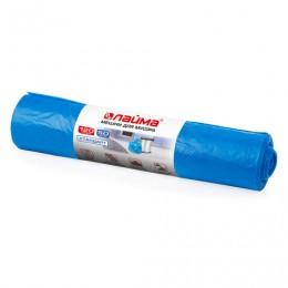 Мешки для мусора 120 л, синие, в рулоне 50 шт., ПНД, 18 мкм, 70х110 см (±5%), стандарт, ЛАЙМА, 601797