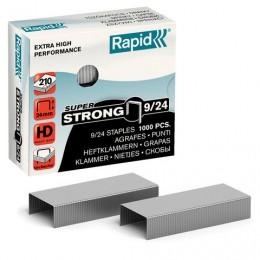 Скобы для степлера RAPID HD210 Super Strong №9/24, 1000 штук, до 210 листов, 24871800