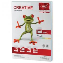 Бумага CREATIVE color (Креатив) А4, 80 г/м2, 250 л., (5 цв.х50 л.) цветная пастель, БПpr-250r