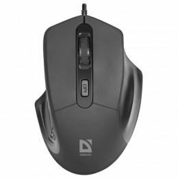 Мышь проводная DEFENDER Datum MB-347, USB, 3 кнопки+1 колесо-кнопка, оптическая, черная, 52347