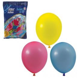 Шары воздушные 10 (25 см), комплект 100 шт., 12 пастельных цветов, в пакете, 1101-0003