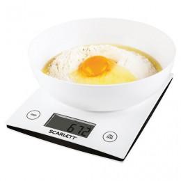 Весы кухонные SCARLETT SC-KS57B10, электронный дисплей, чаша, max вес 5 кг, тарокомпенсация, пластик