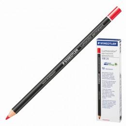 Маркер-карандаш сухой перманентный для любой поверхности, красный, 4,5 мм, STAEDTLER, 108 20-2