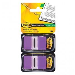 Закладки клейкие POST-IT Professional, пластиковые, 25 мм, 100 шт., фиолетовые, 680-PU2