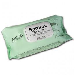 Дезинфицирующие салфетки влажные 120шт САНИЛОКС,для обработки рук и поверхностей,клапан-крышка, 9164