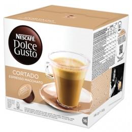 Капсулы для кофемашин NESCAFE Dolce Gusto Cortado, натуральный кофе эспрессо с молоком, 16 шт. х 6 г, 12121894