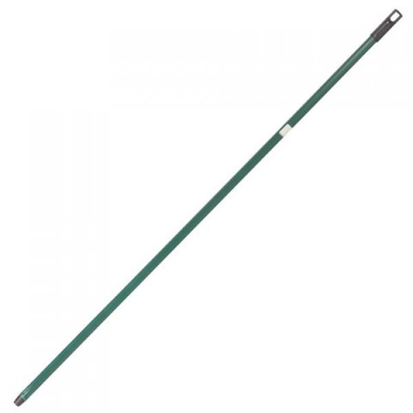 Черенок для уборочного инвентаря 130 см, еврорезьба, металлопластик, усиленный, зеленый, SVIP, SV3058