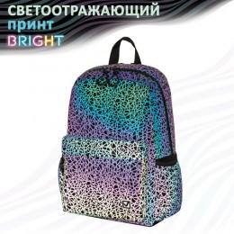 Рюкзак BRAUBERG BRIGHT универсальный, СВЕТЯЩИЙСЯ РИСУНОК, Spiderweb, 42х31х15 см, 229941