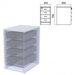 Крышка для тумбы приставной (АТ-07) Арго, 440х600х22 мм, серый