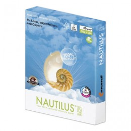Бумага NAUTILUS SUPER WHITE, RECYCLED, А4, 80 г/м2, 500 л., класс