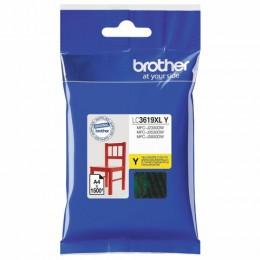 Картридж струйный BROTHER (LC3619XLY) для MFC-J3530DW/J3930DW, желтый, оригинальный, ресурс 1500 стр