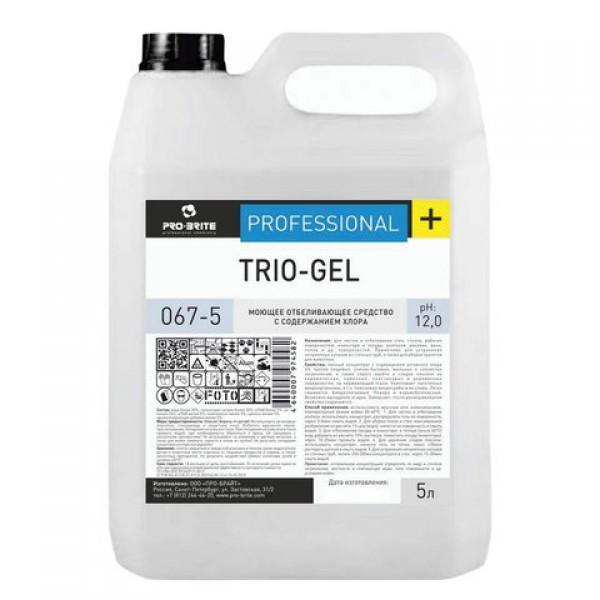 Средство моющее 5 л, PRO-BRITE TRIO-GEL, с отбеливающим эффектом, концентрат, 067-5